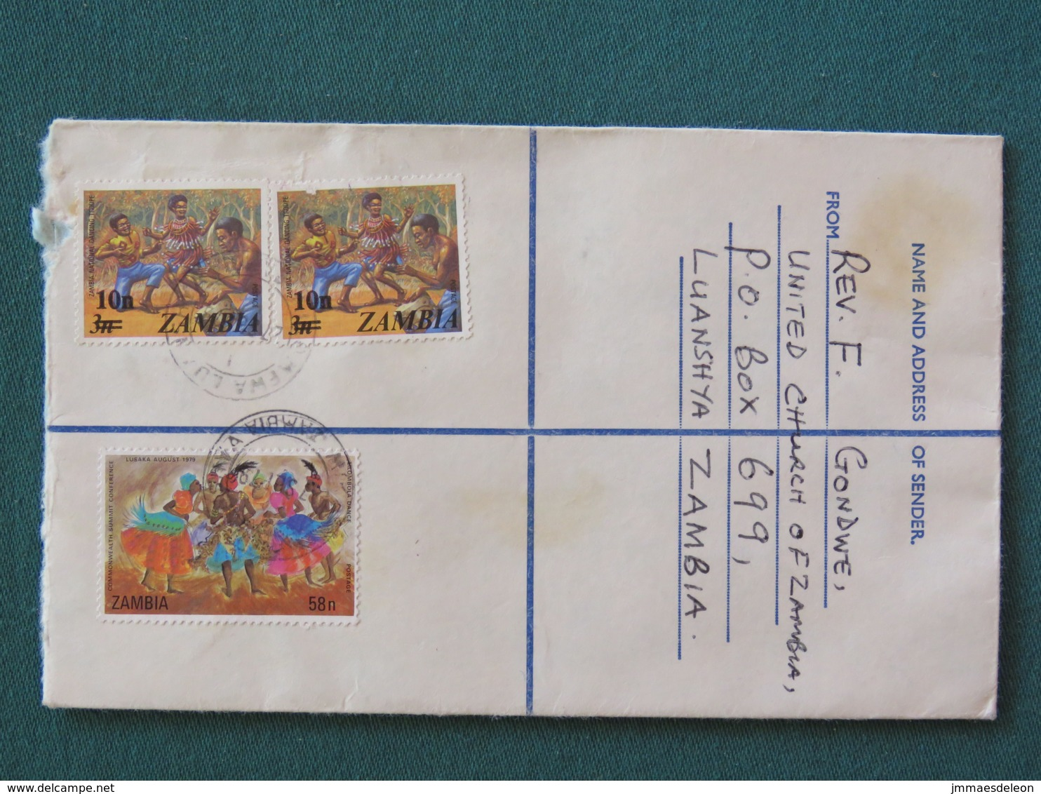 Zambia 1979 Registered Cover To England - Dance - Zambie (1965-...)