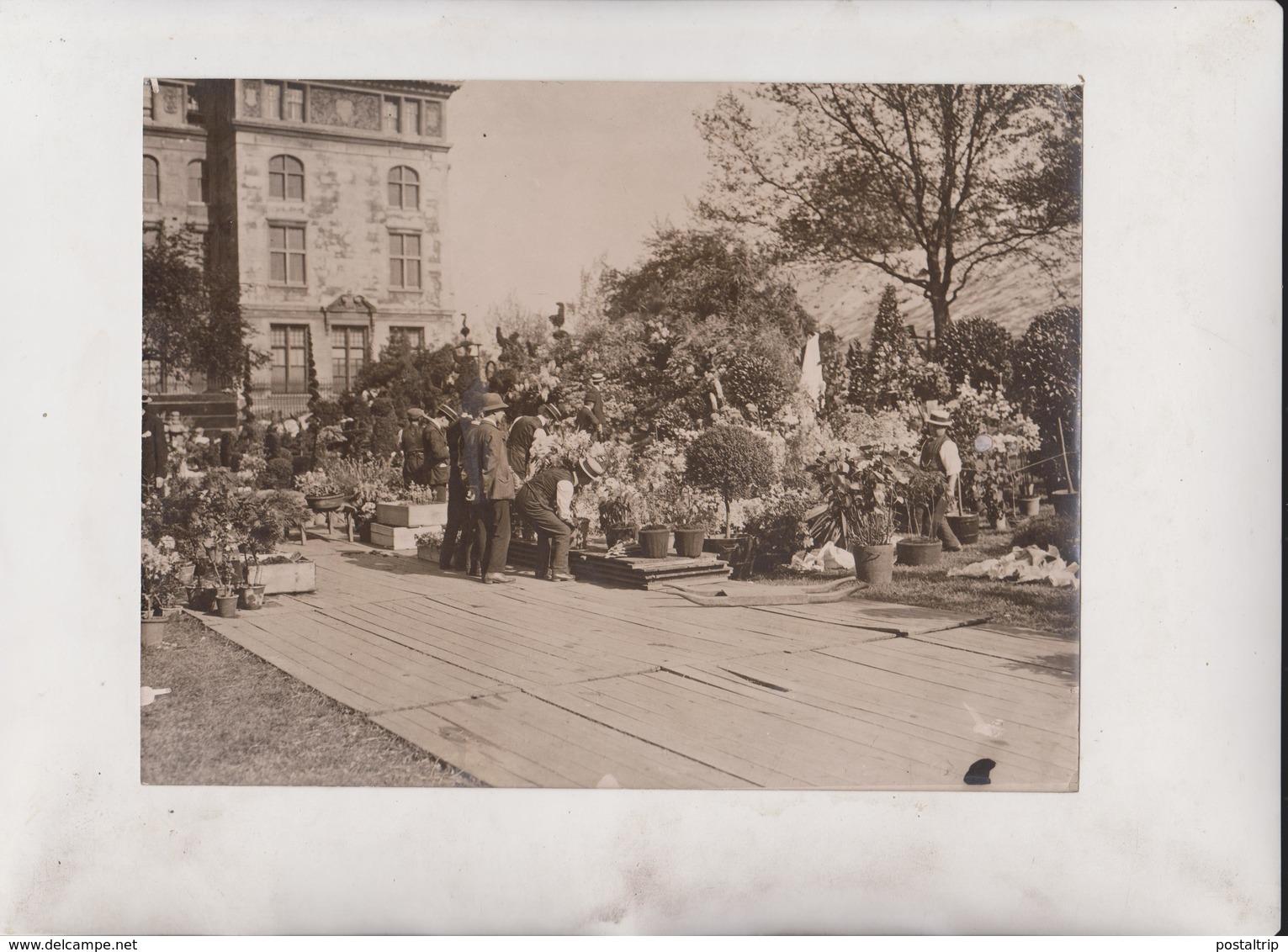 TEMPLE FLOWER SHOW  FLOWER PLANTS GARDENS  21*16 CM Fonds Victor FORBIN 1864-1947 - Profesiones