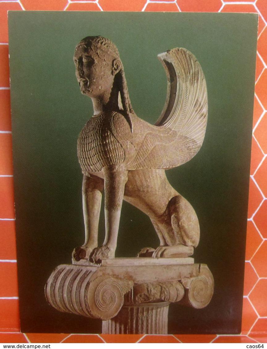 Delphi Museo - Sphinx Of The Naxians CARTOLINA Non Viaggiata - Sculture
