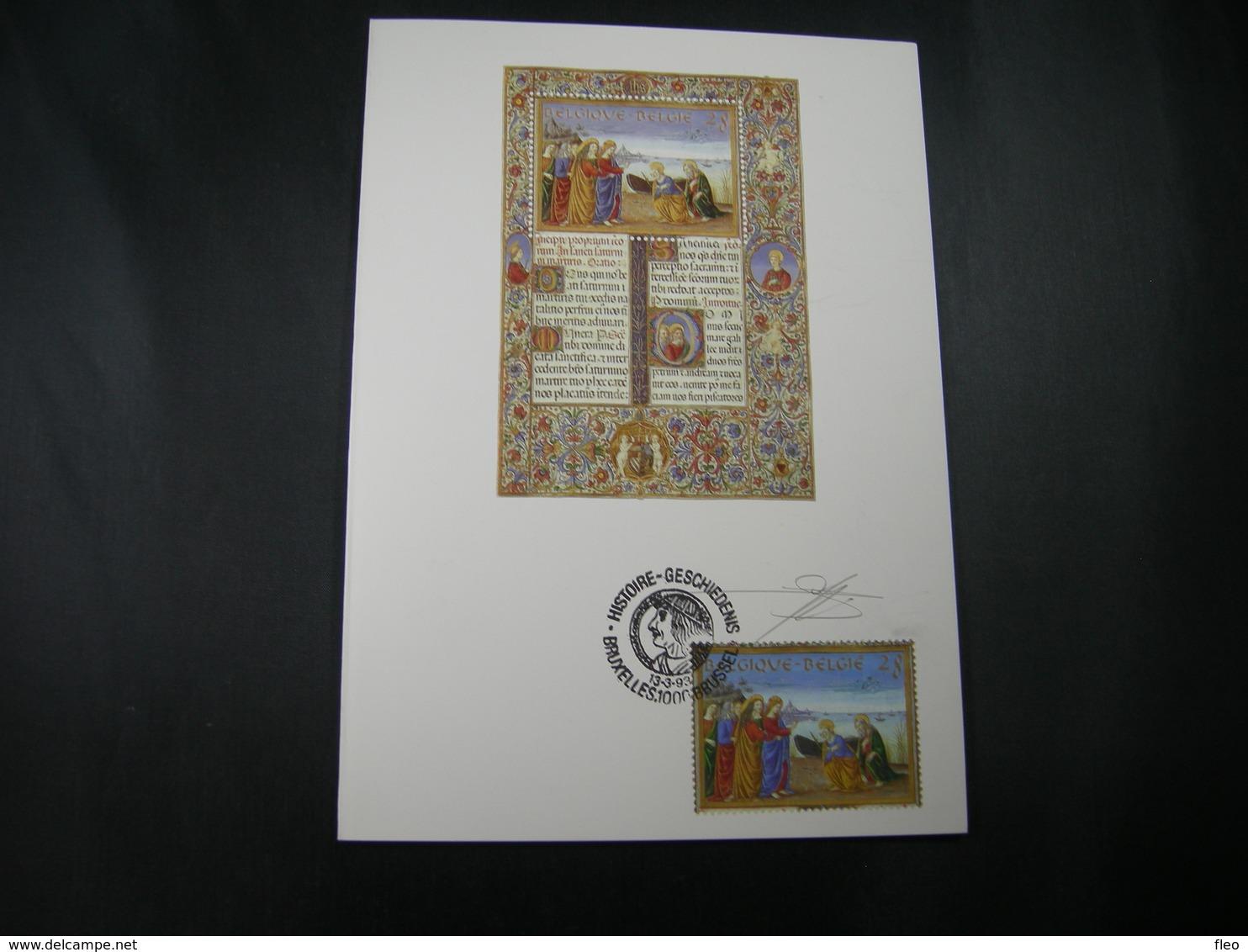 "BELG.1993 2494 FDC Filatelic Card (Bruxs) : ""BELGIAN-HUNGARIAN ISSUE"" (signé Jacques Doppée ,met Handtekening) - FDC"
