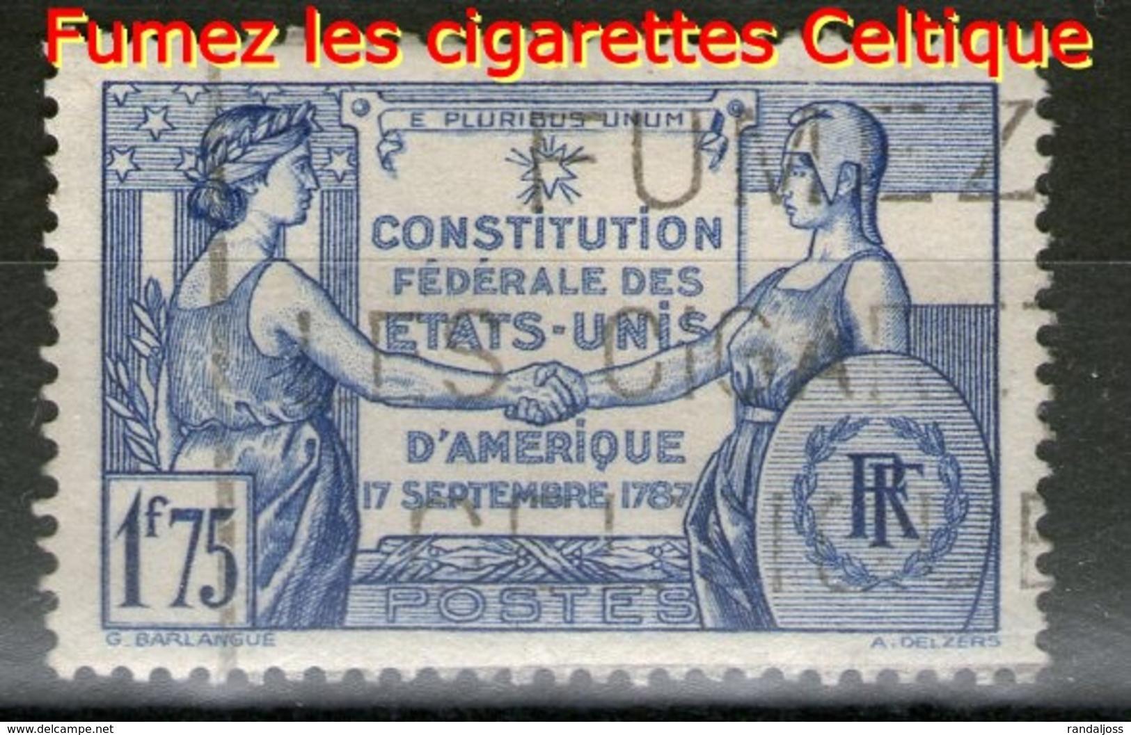 N° 357°_Oblitéré Cigarettes Celtique_voir Scan - Usados