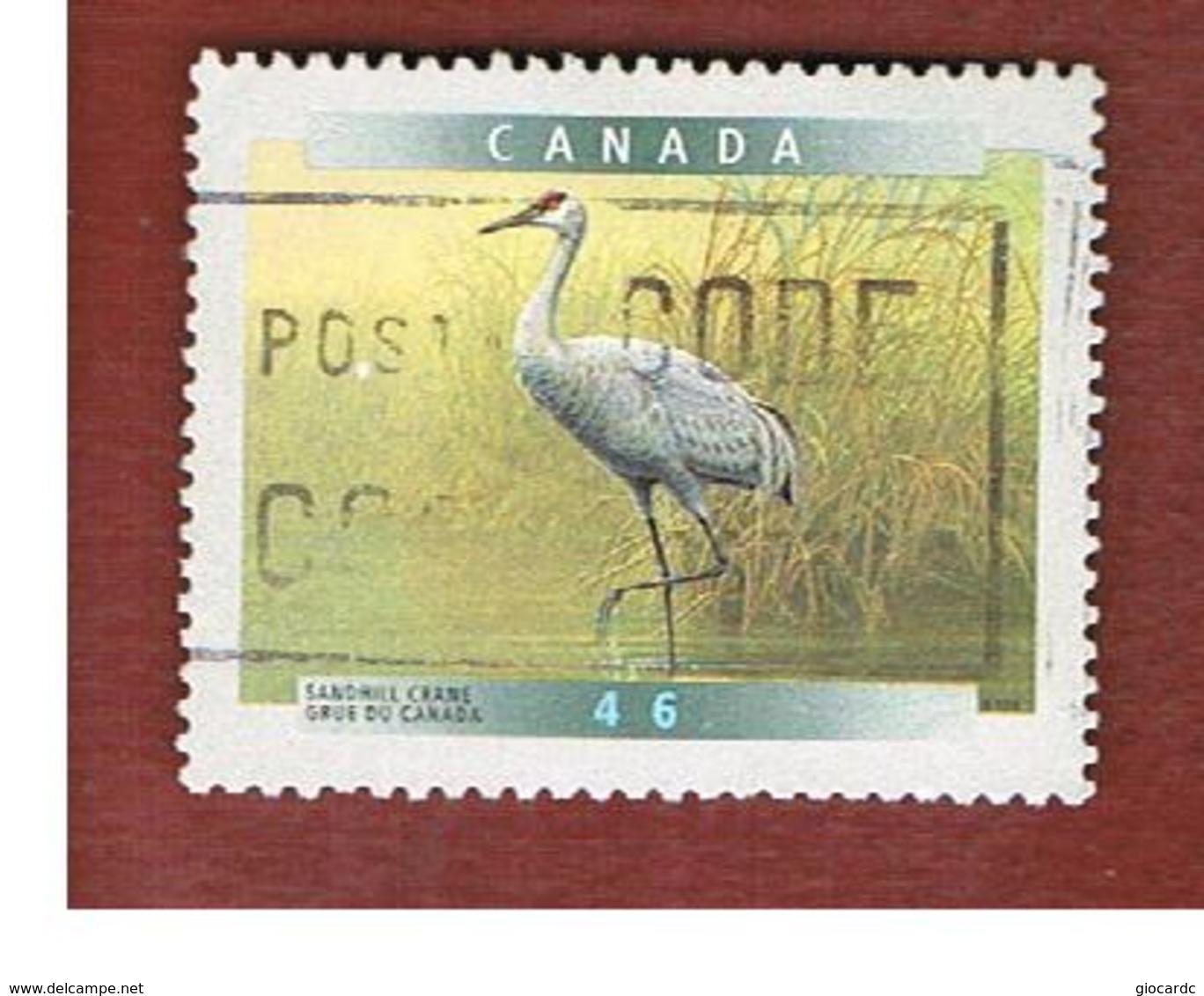CANADA   -  SG 1868  -  1999   CANADIAN BIRDS: SANDHILL CRANE                -      USED - Usati