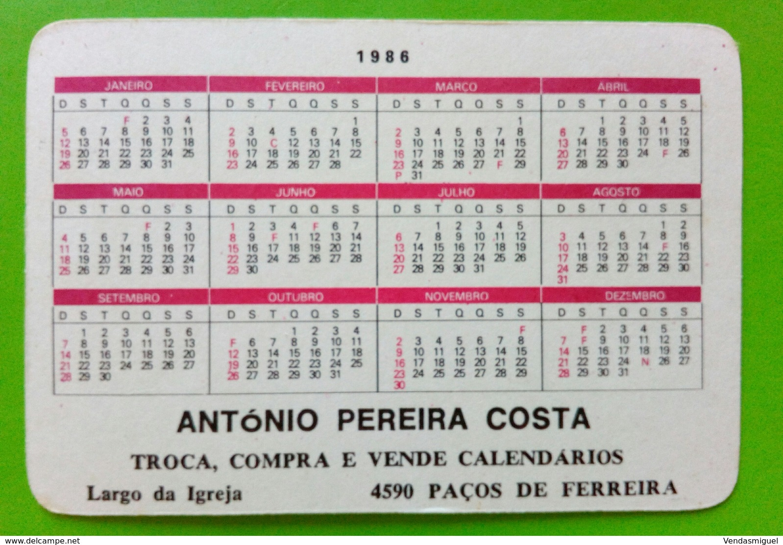 Pocket Calendar Sylvester Stallone. RAMBO - Calendarios