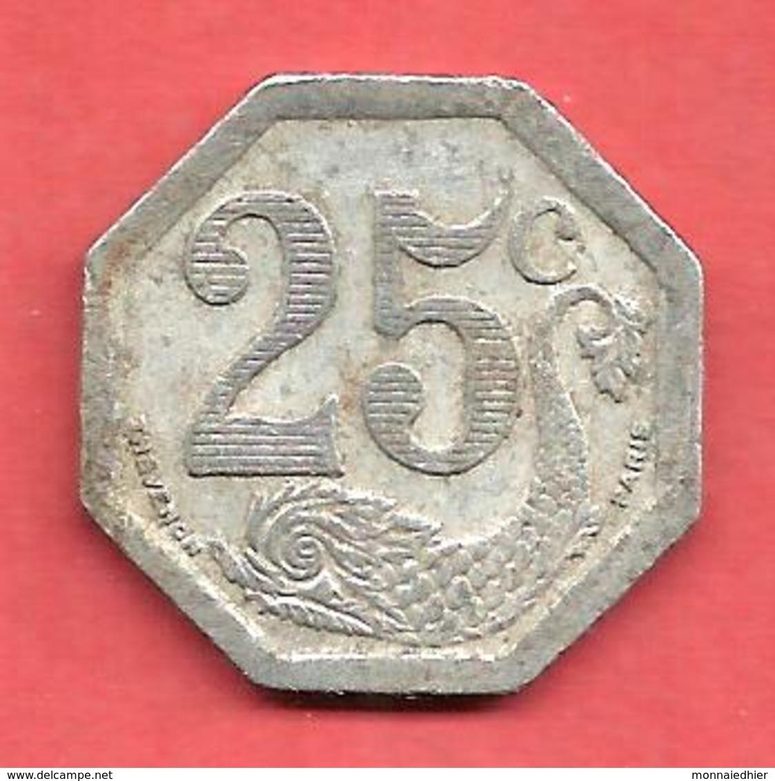 SOCIETE Du  COMMERCE , LA ROCHELLE , 1922 , 25 Cts. - Monétaires / De Nécessité