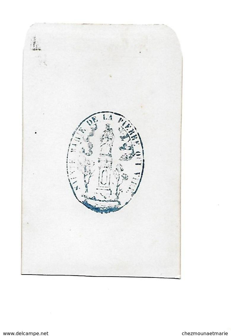 CURE ABBE PRETRE - CDV PHOTO SAINTE MARIE DE LA PIERRE QUI VIRE YONNE - Anciennes (Av. 1900)