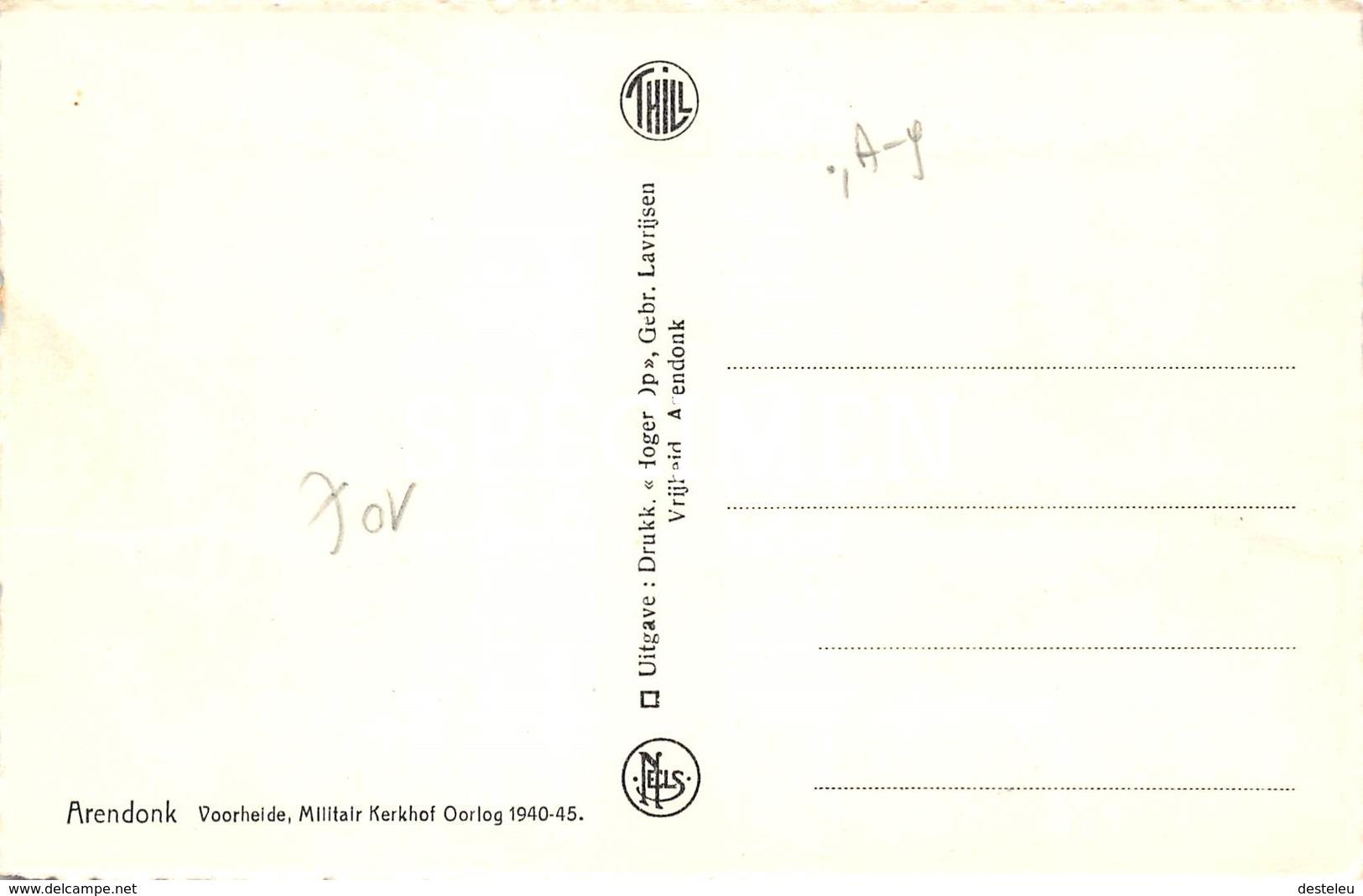 Voorheide Militair Kerkhof 1940-45 -,Arendonk - Arendonk