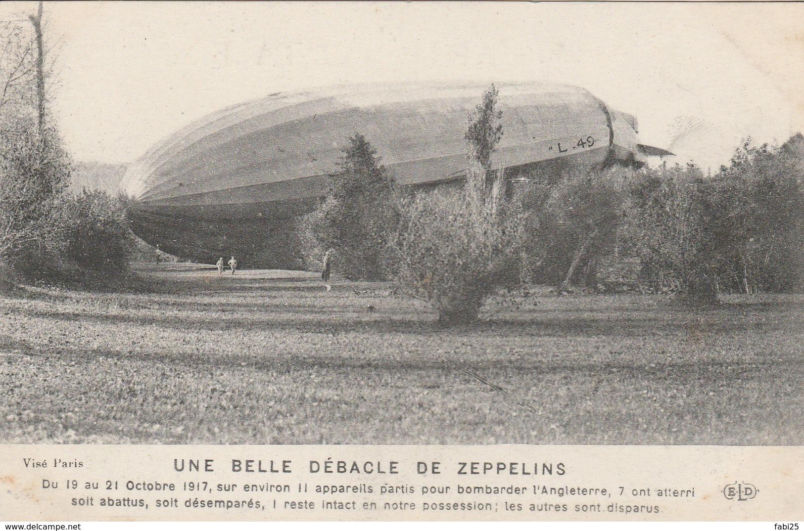 UNE BELLE DEBACLE DES ZEPPELINS - Airships