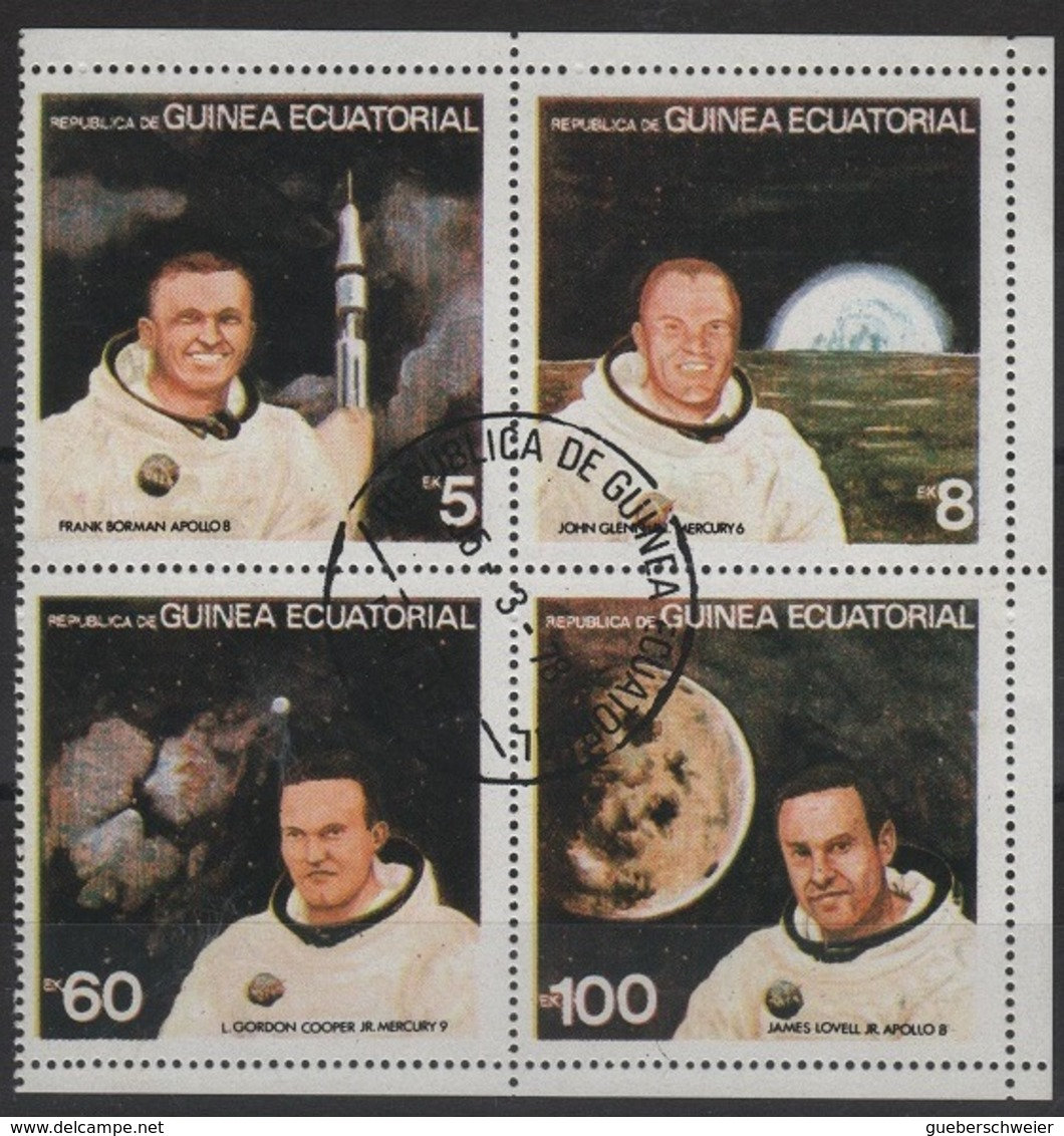 GUI 2 - GUINEE EQUATORIALE Bloc De 4 Astronautes Obl. - Guinée Equatoriale