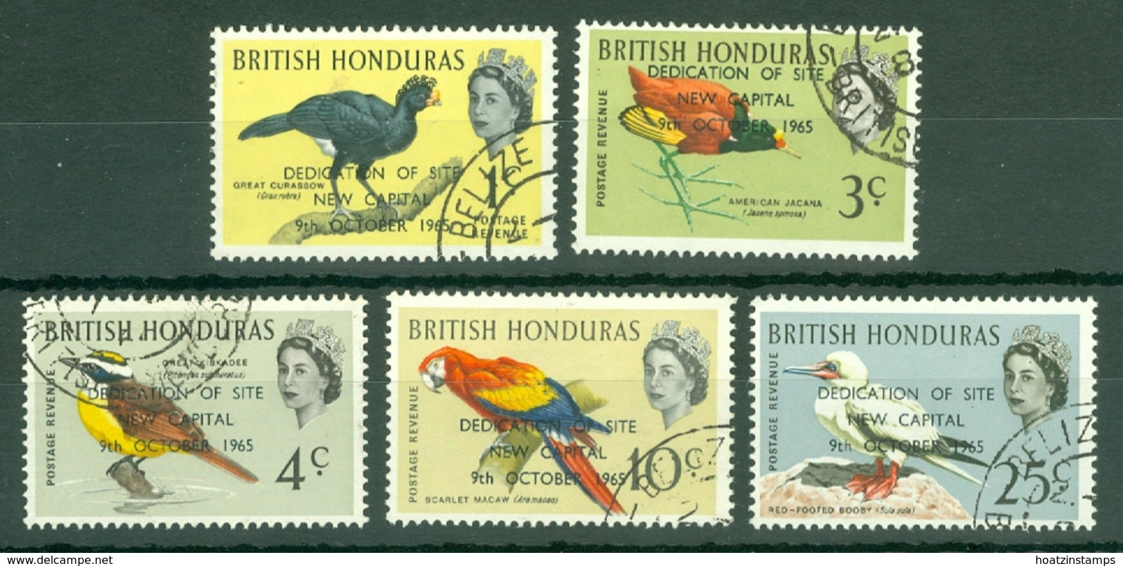 British Honduras: 1966   Dedication Of New Capital Site OVPT   Used - Britisch-Honduras (...-1970)