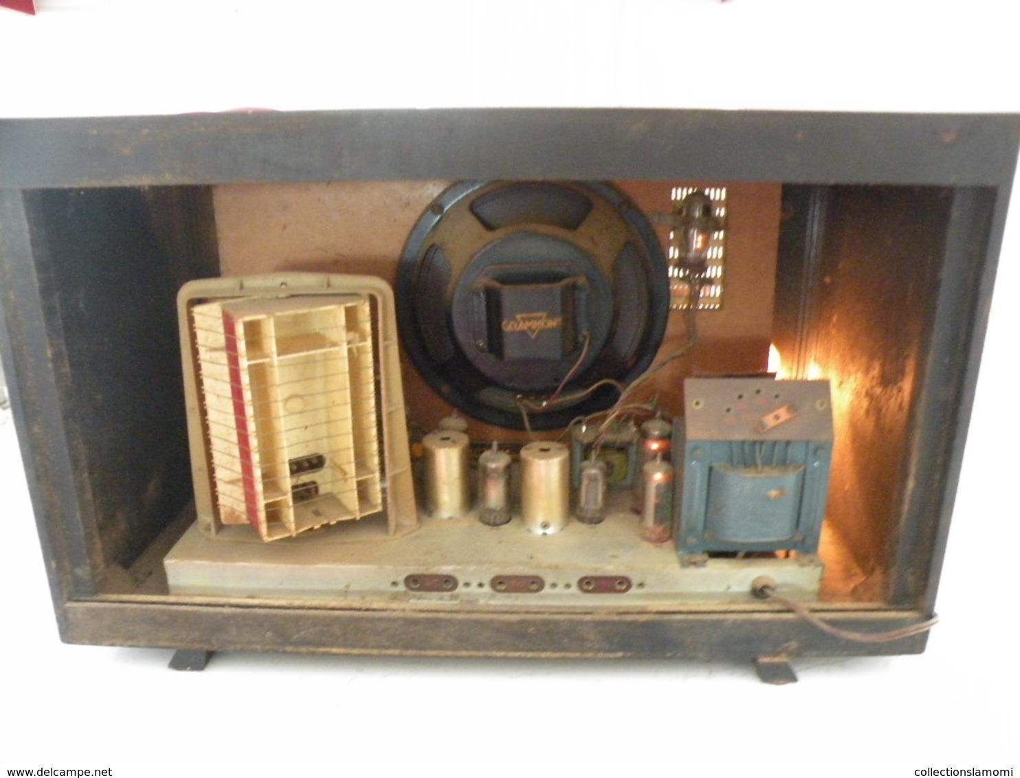 Postes Radio TSF Grammont (Cherubin) En état De Fonction (0,50cm X 0,25 Cm H 0,31) - Appareils