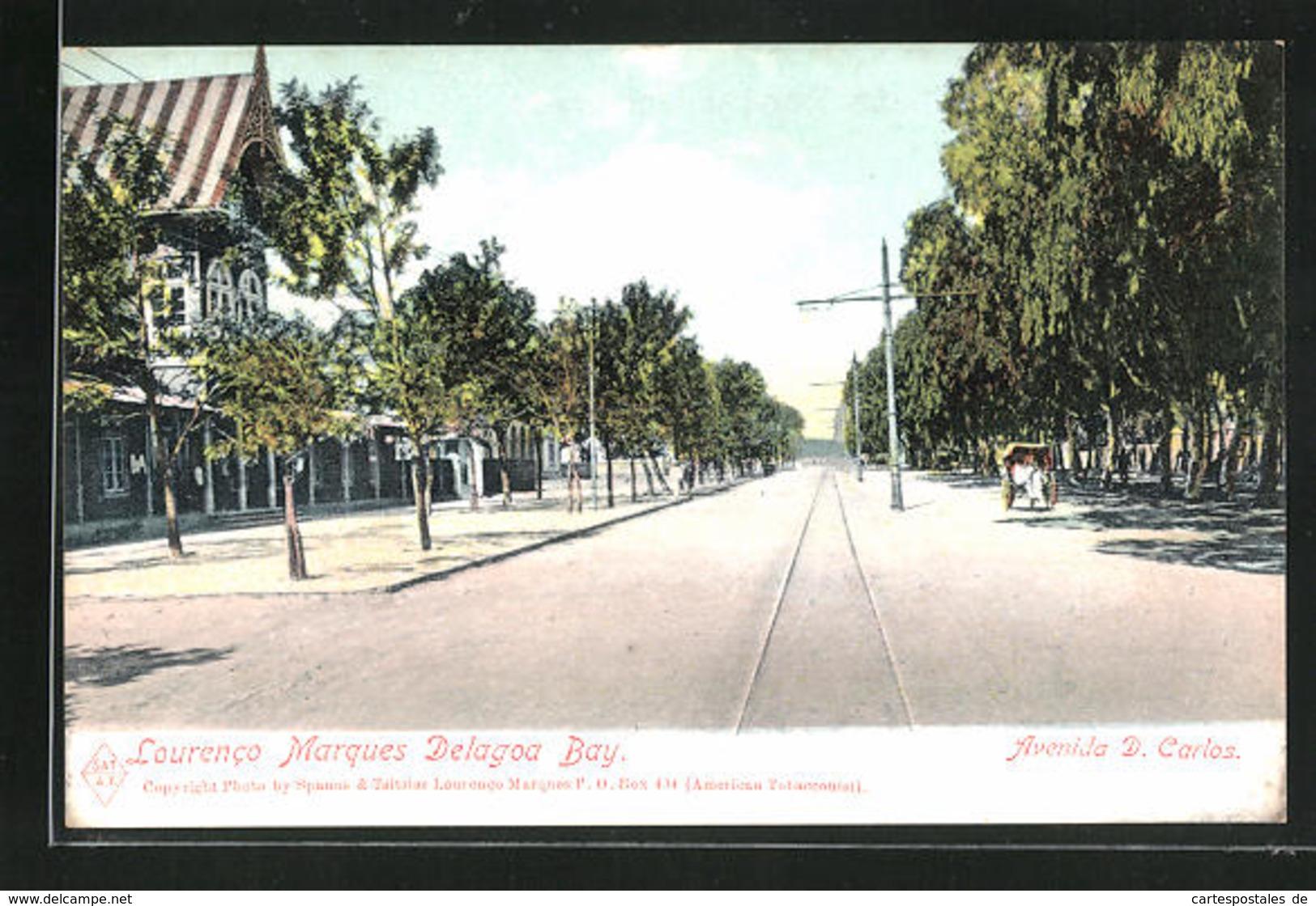 CPA Lourenco Marques, Delagoa Bay, Rikscha, Häuser Et Gleise - Mozambique