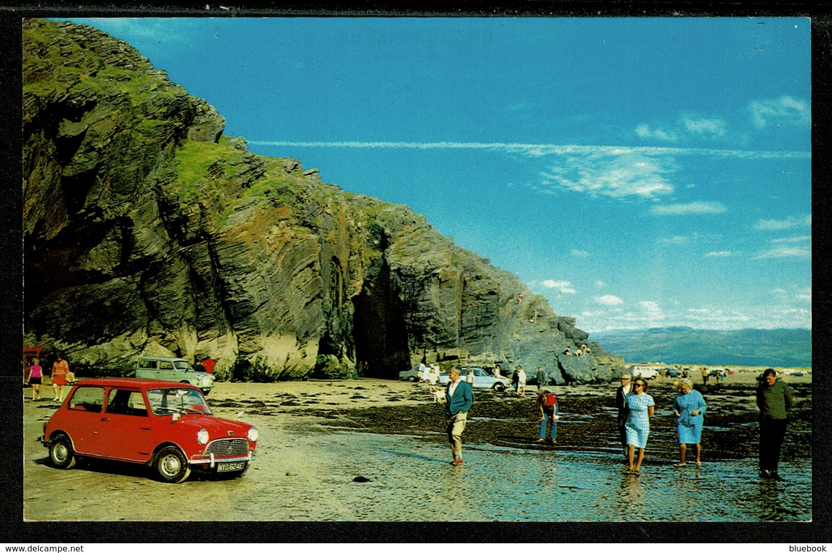 Ref 1317 - Postcard - Mini Car Close-Up - Black Rock - Morfa Bychan Caernarvonshire Wales - Caernarvonshire