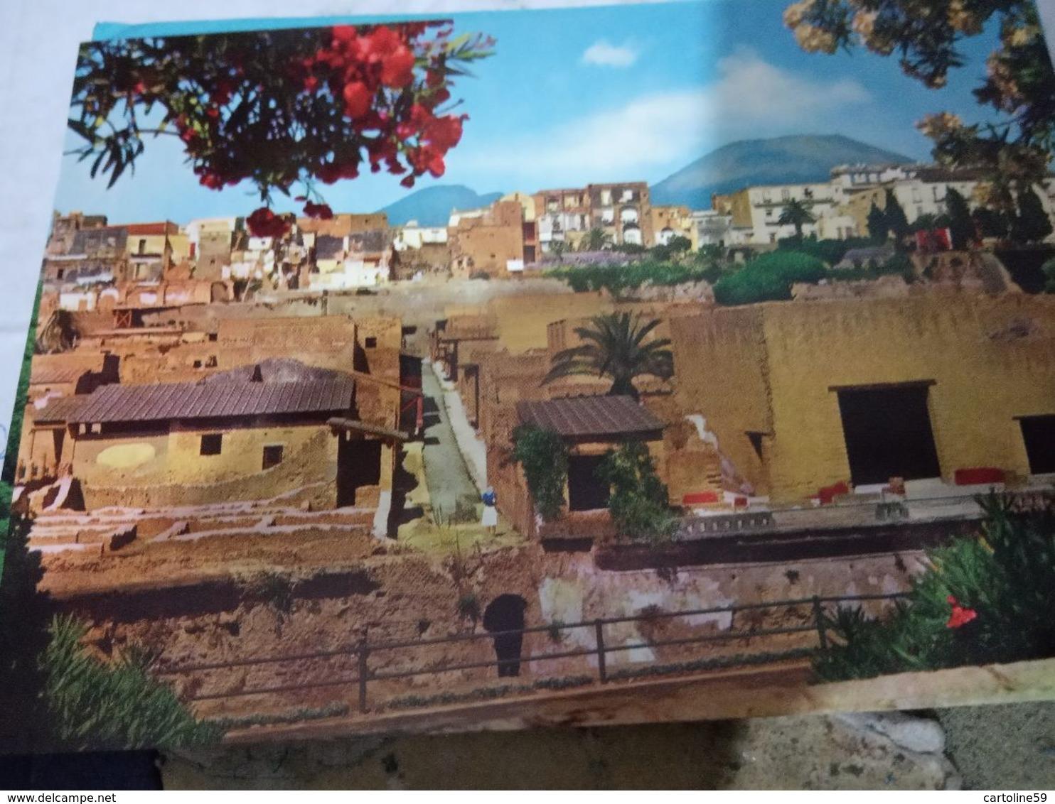 NAPOLI - ERCOLANO -SCAVI E SCORCIO   N1975  HE176 - Ercolano
