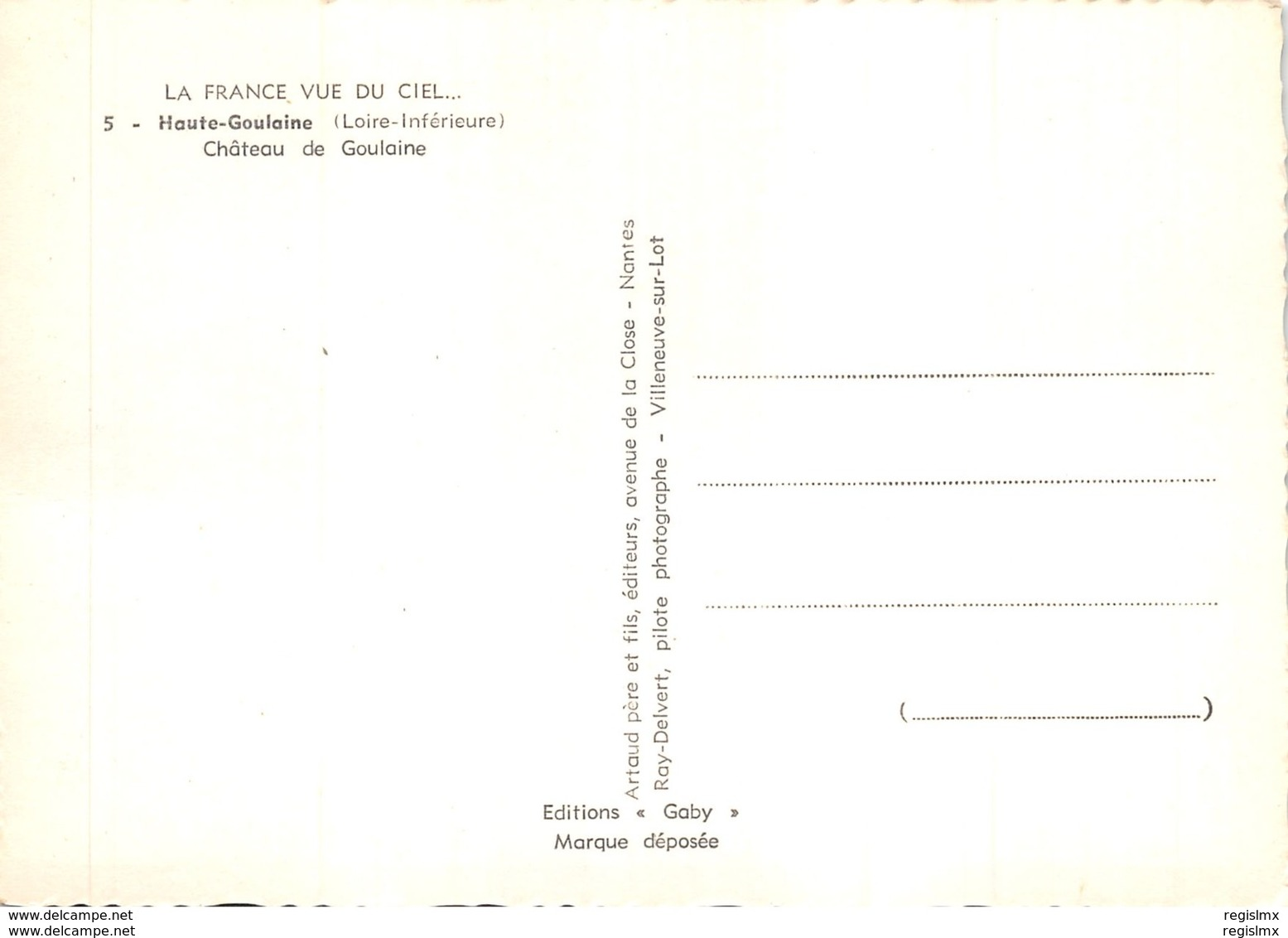 44-HAUTE GOULAINE-CHATEAU DE GOULAINE-N°543-B/0381 - Haute-Goulaine