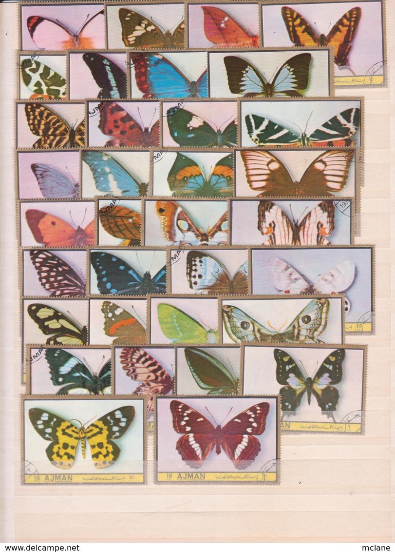 Lot Timbres Papillons (2) - Sammlungen (ohne Album)