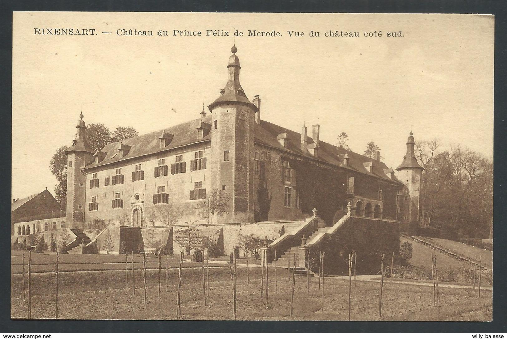 +++ CPA - RIXENSART - Château Du Prince Felix De Mérode - Côté Sud  // - Rixensart