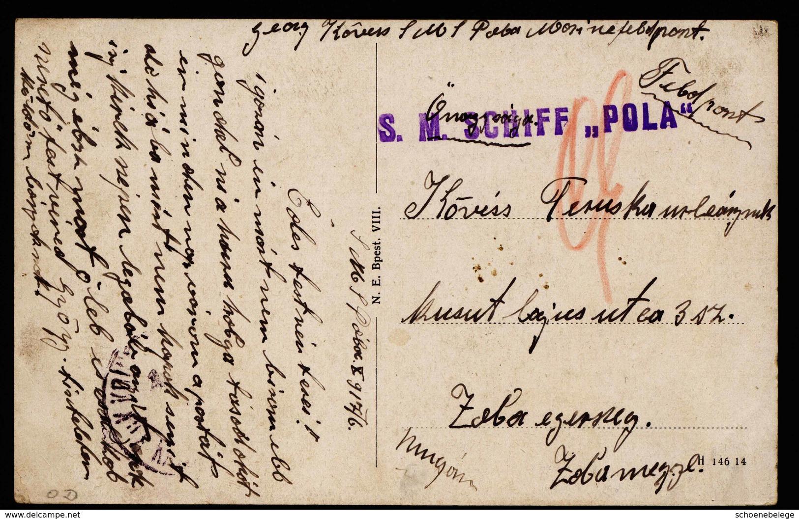 A6277) Austria Karte K.u.k.Marine SMS POLA 06.10.17 - 1850-1918 Imperium
