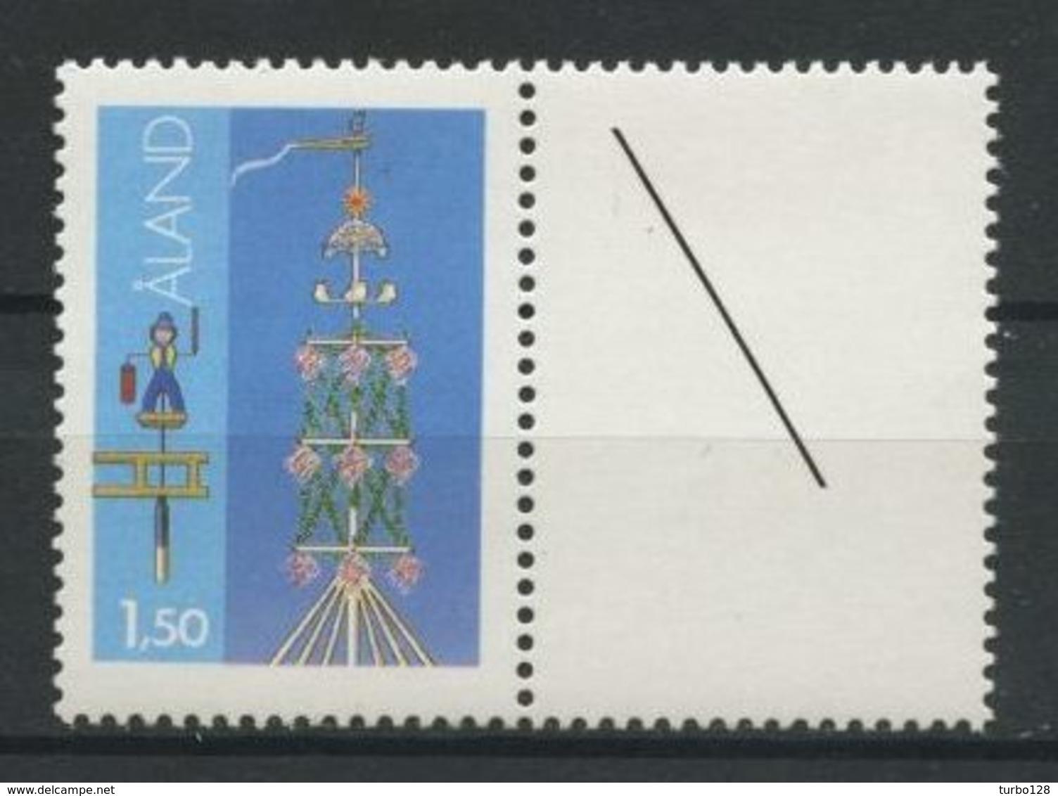 ALAND 1985  N° 10 ** Neuf MNH Superbe C 1.50 €  Les Mâts De La Saint Jean Storby Girouette Homme épée Folklore - Aland