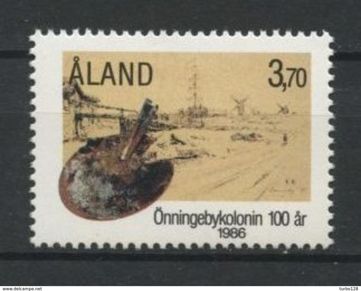 ALAND 1986 N° 19 ** Neuf MNH Superbe Colonie D' Artistes D' Onningeby Peintures Palette Aquarelle Westerholm Paintings - Aland