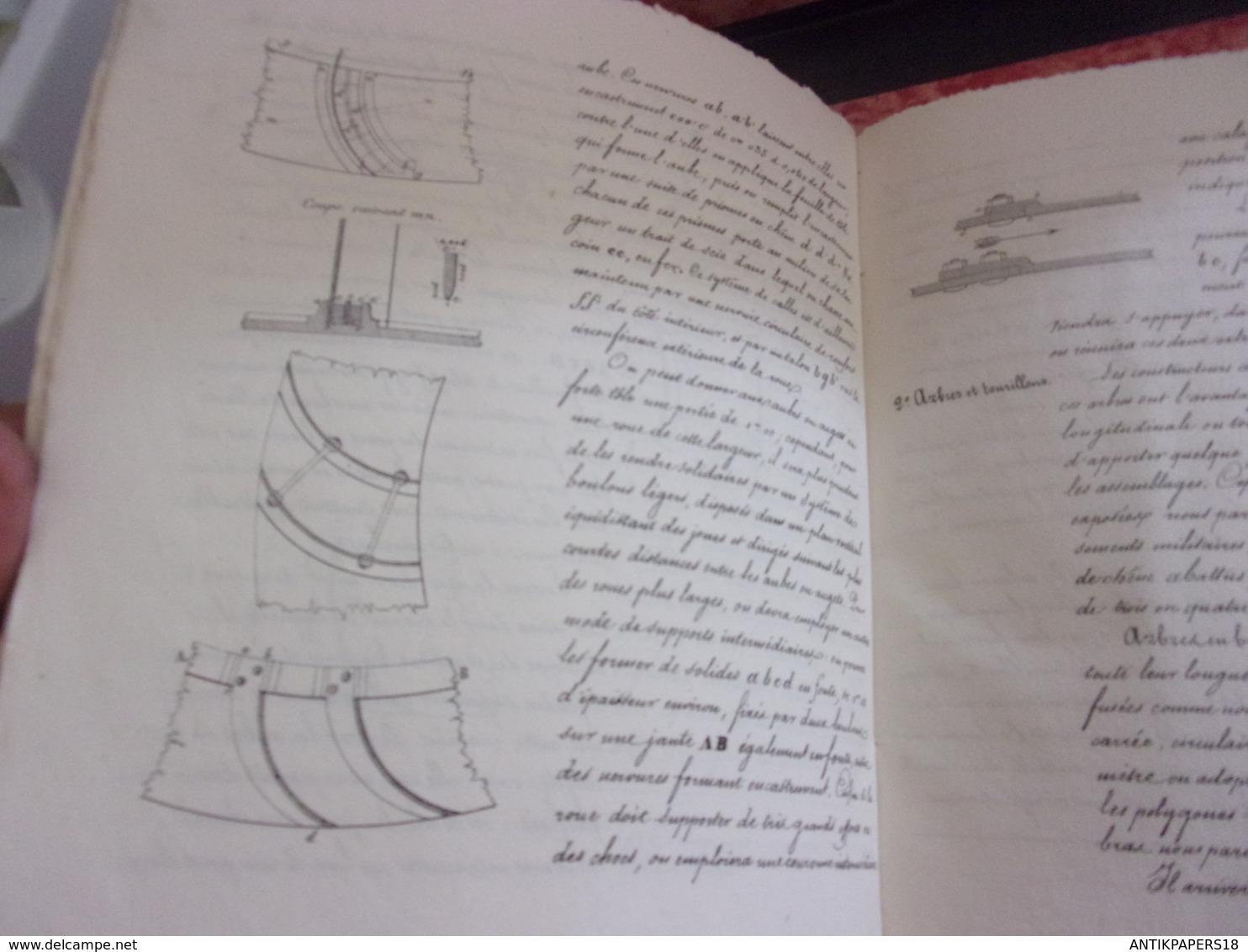 1843 L'Abbaye St Arnould De Metz Ecole Application Artillerie Et Genie INSTRUCTION SUR AMELIORATION D USINE BOILEAU CPT - Libri, Riviste & Cataloghi