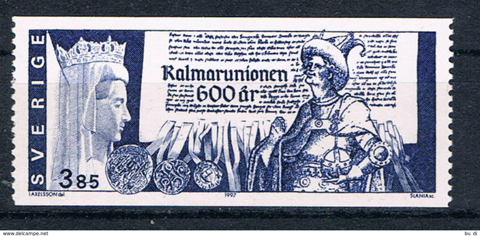 Schweden 1987 - Union Von Kalmar, Königin Margrethe, König Albrecht - History, Geschichte, Siegel - Schweden