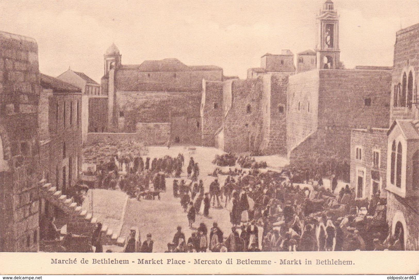 ALTE  AK    BETHLEHEM / Westjordanland  - Markt - 1920 Ca. - Postcards