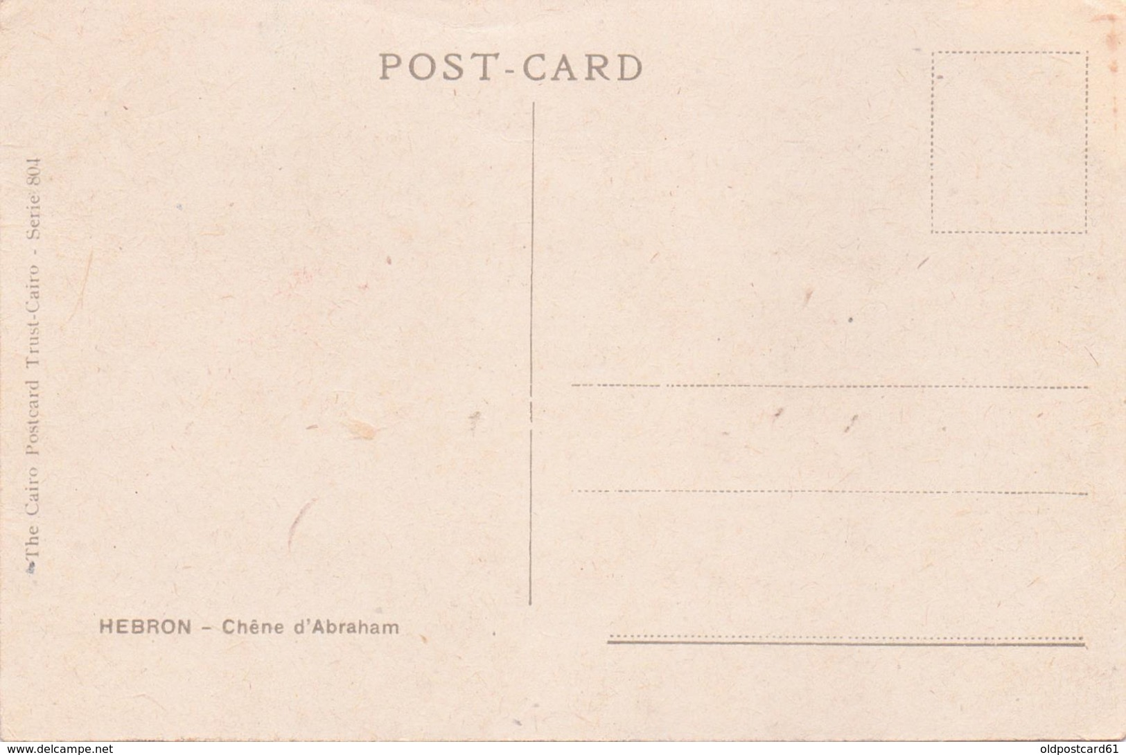 ALTE  AK    HEBRON / Westjordanland  - The Abraham Oak - 1920 Ca. - Postcards