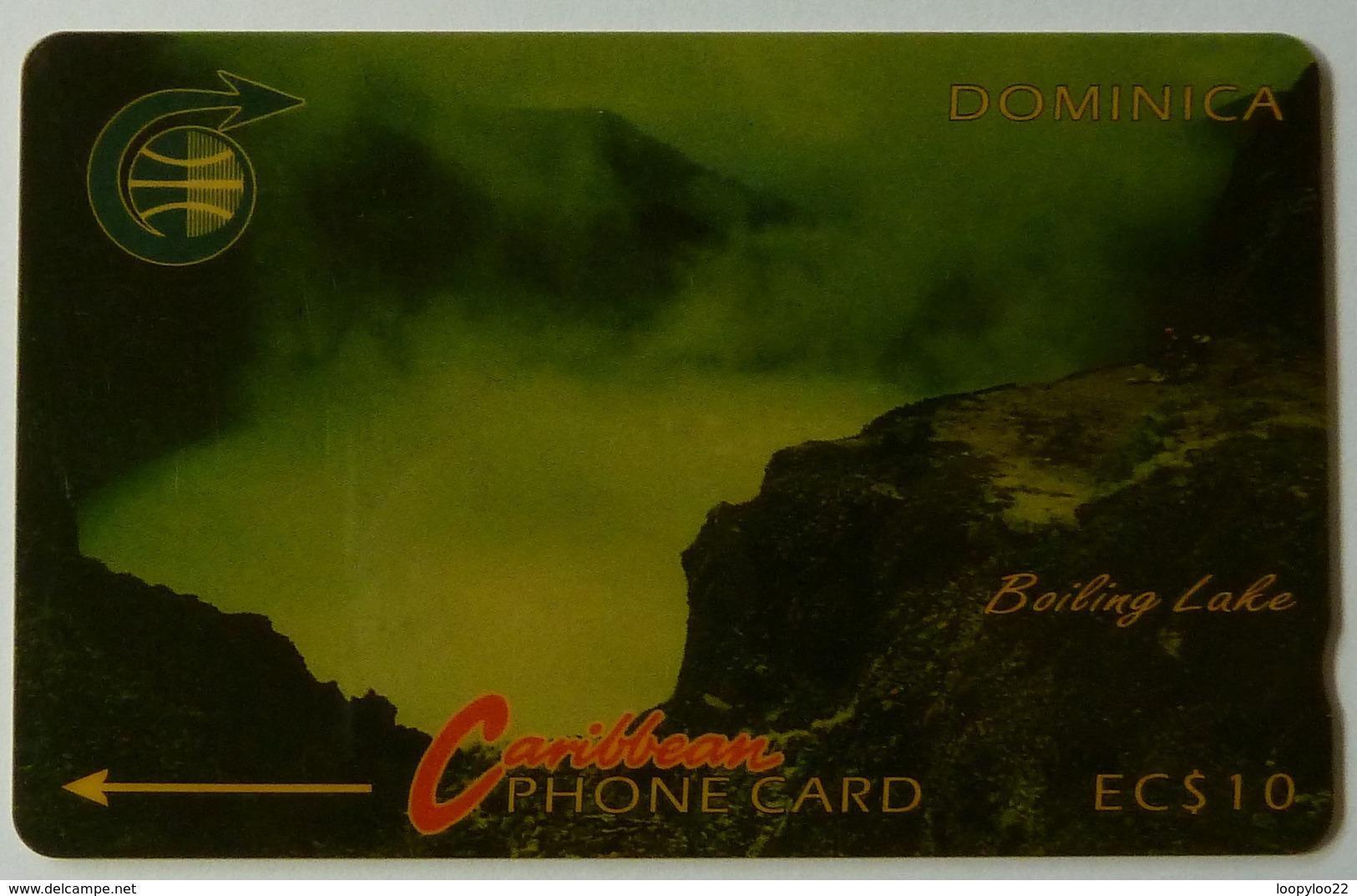 DOMINICA - GPT - 4CDMA - $10 - DOM-4A - Boiling Lake - White Strip - Used - Dominica