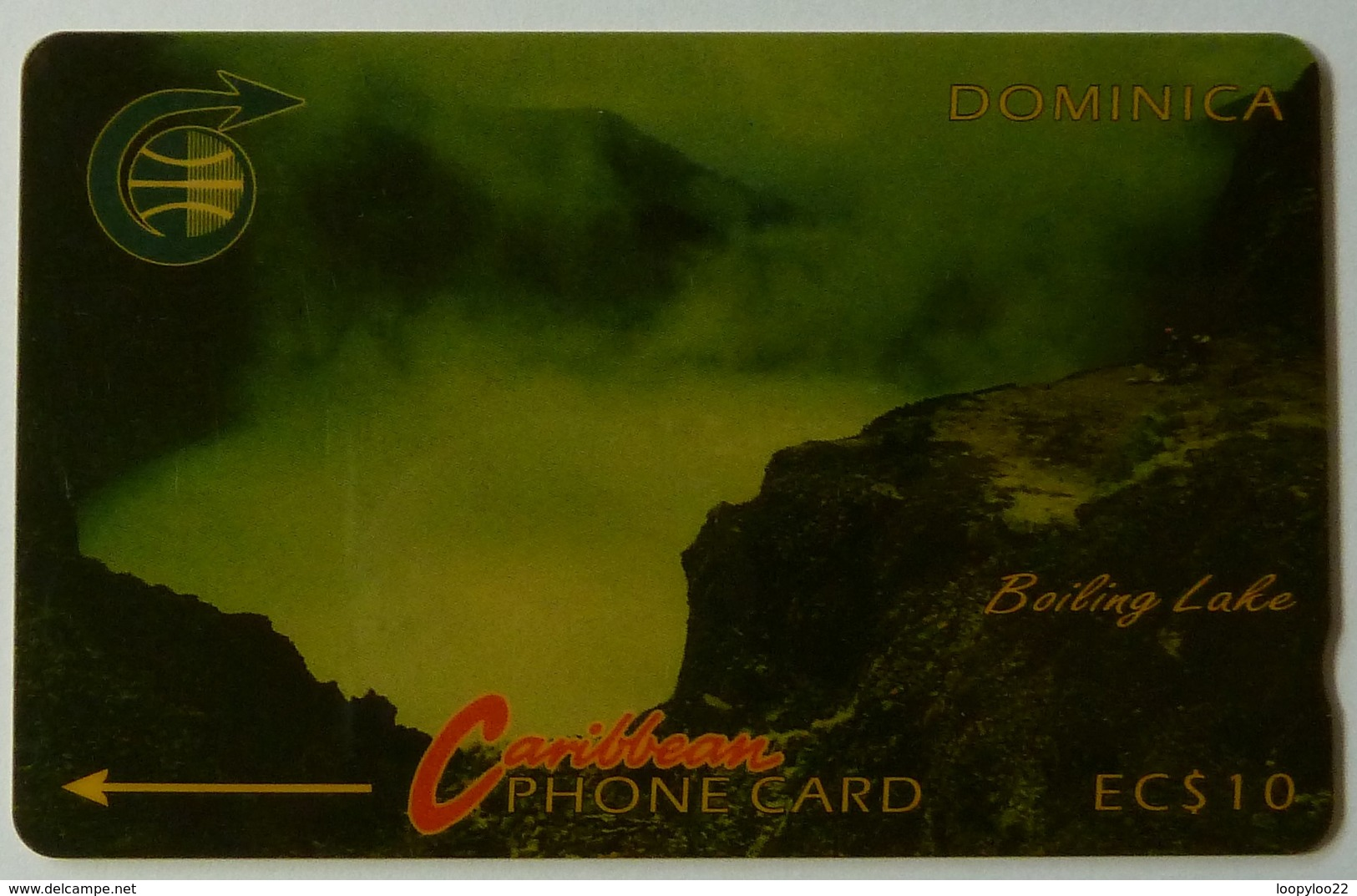 DOMINICA - GPT - 4CDMA - $10 - DOM-4A - Boiling Lake - White Strip - Used - Dominique