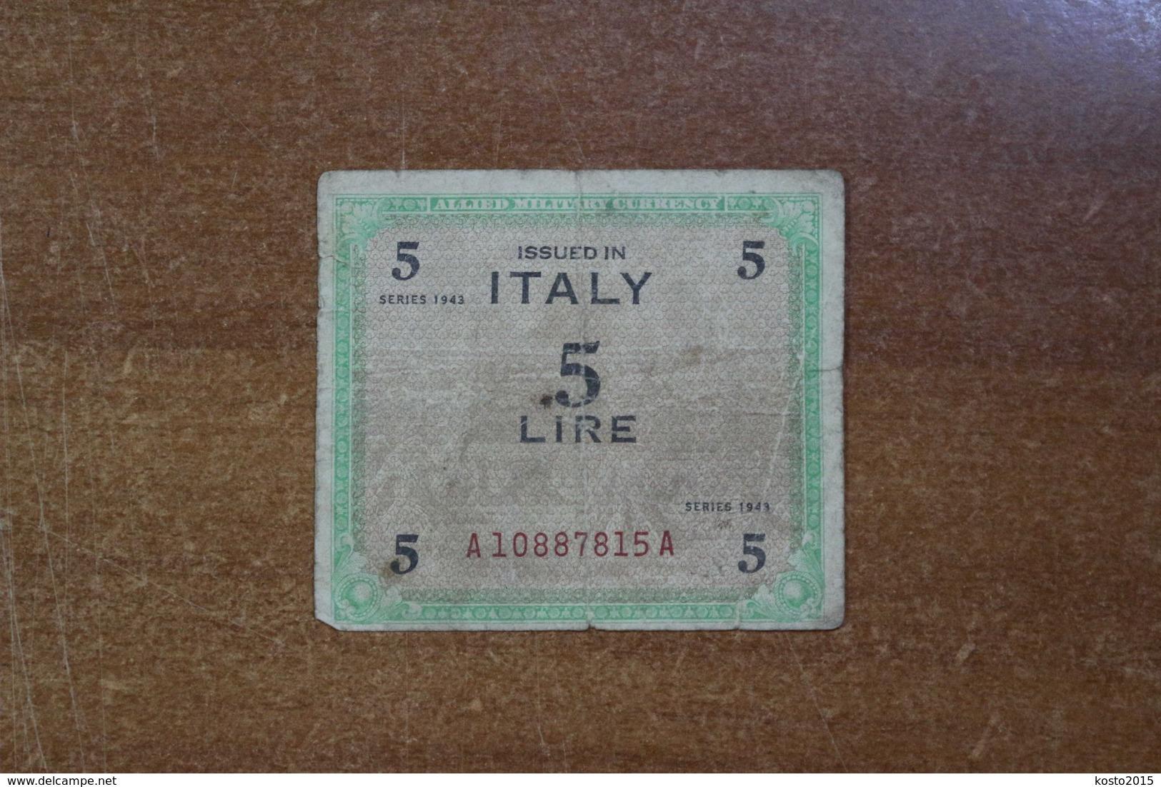 Italy 5 Lire 1943 - Andere