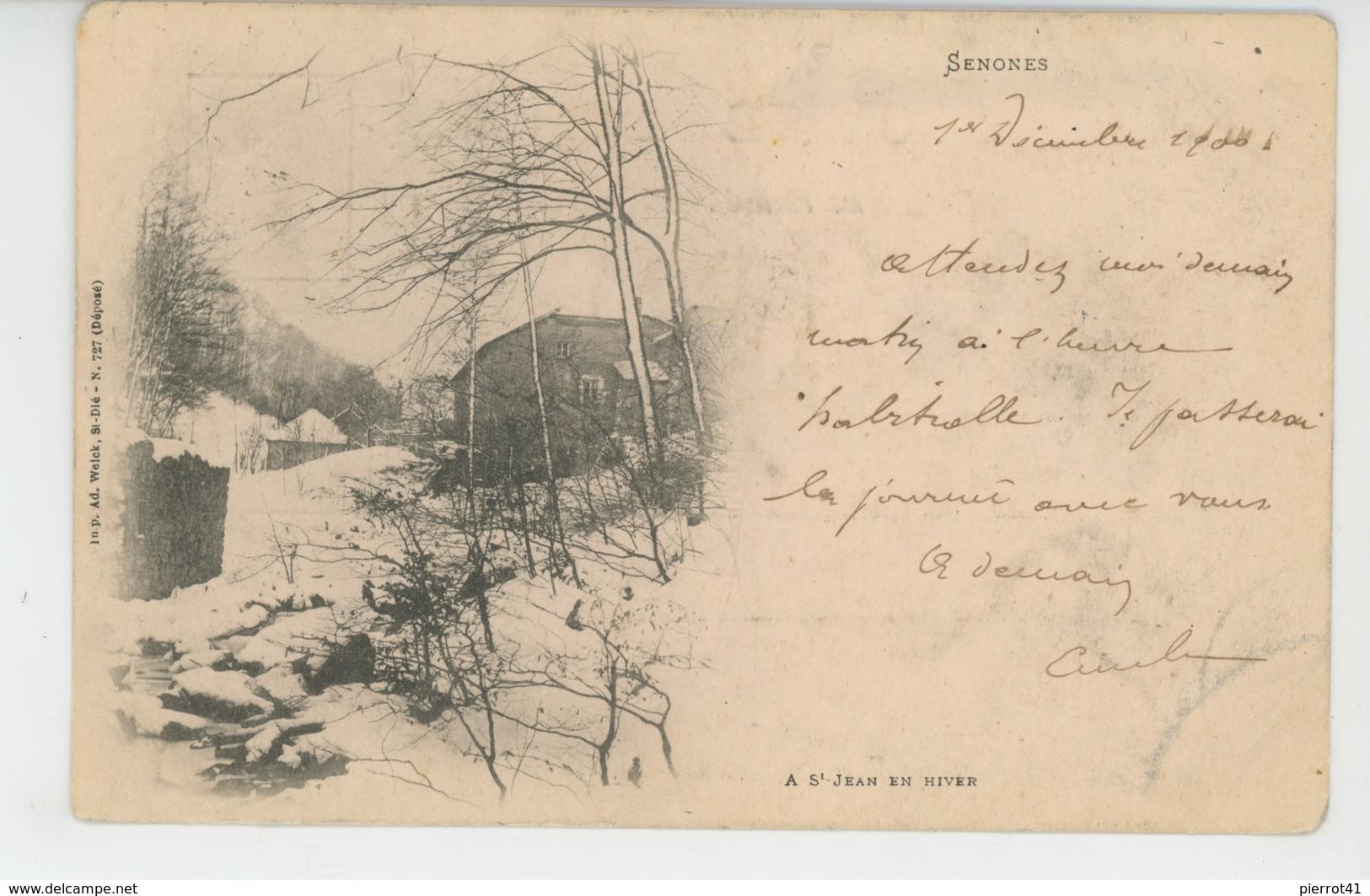 SENONES - A Saint Jean En Hiver (1900) - Senones