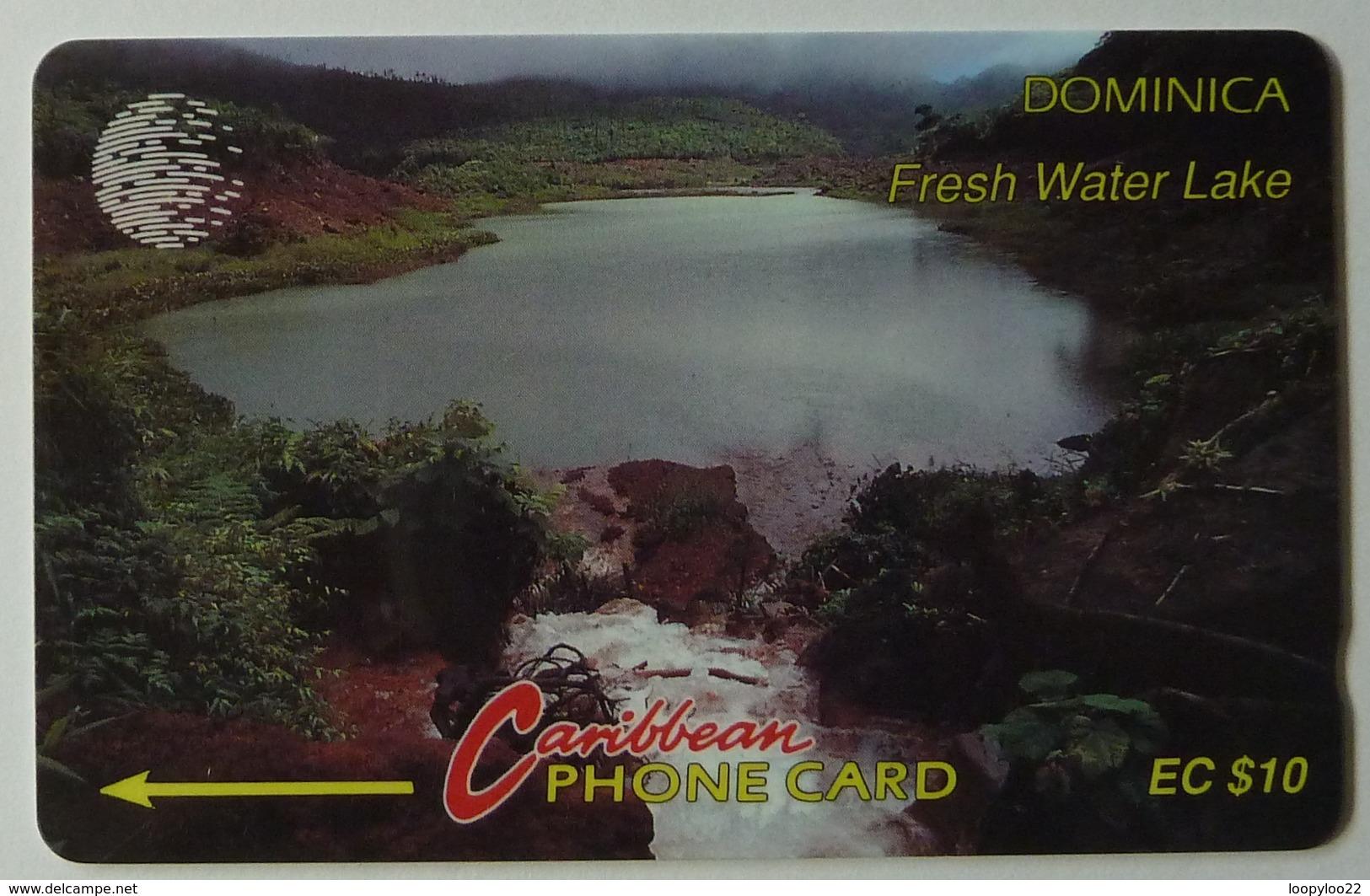 DOMINICA - GPT - 6CDMB - $10 - DOM-6B - Fresh Water Lake - Used - Dominica