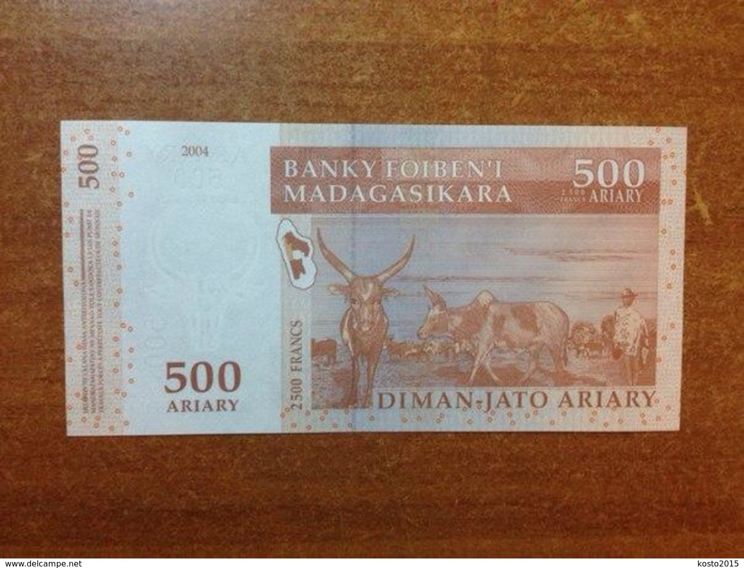 Madagascar 500 Ariari 2015 UNC - Madagaskar