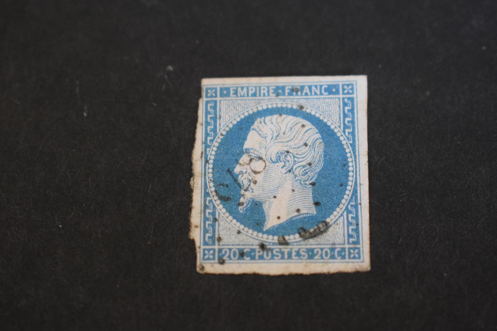 Timbre N° 14A Oblitération La Coquille En Dordogne. - 1853-1860 Napoleon III
