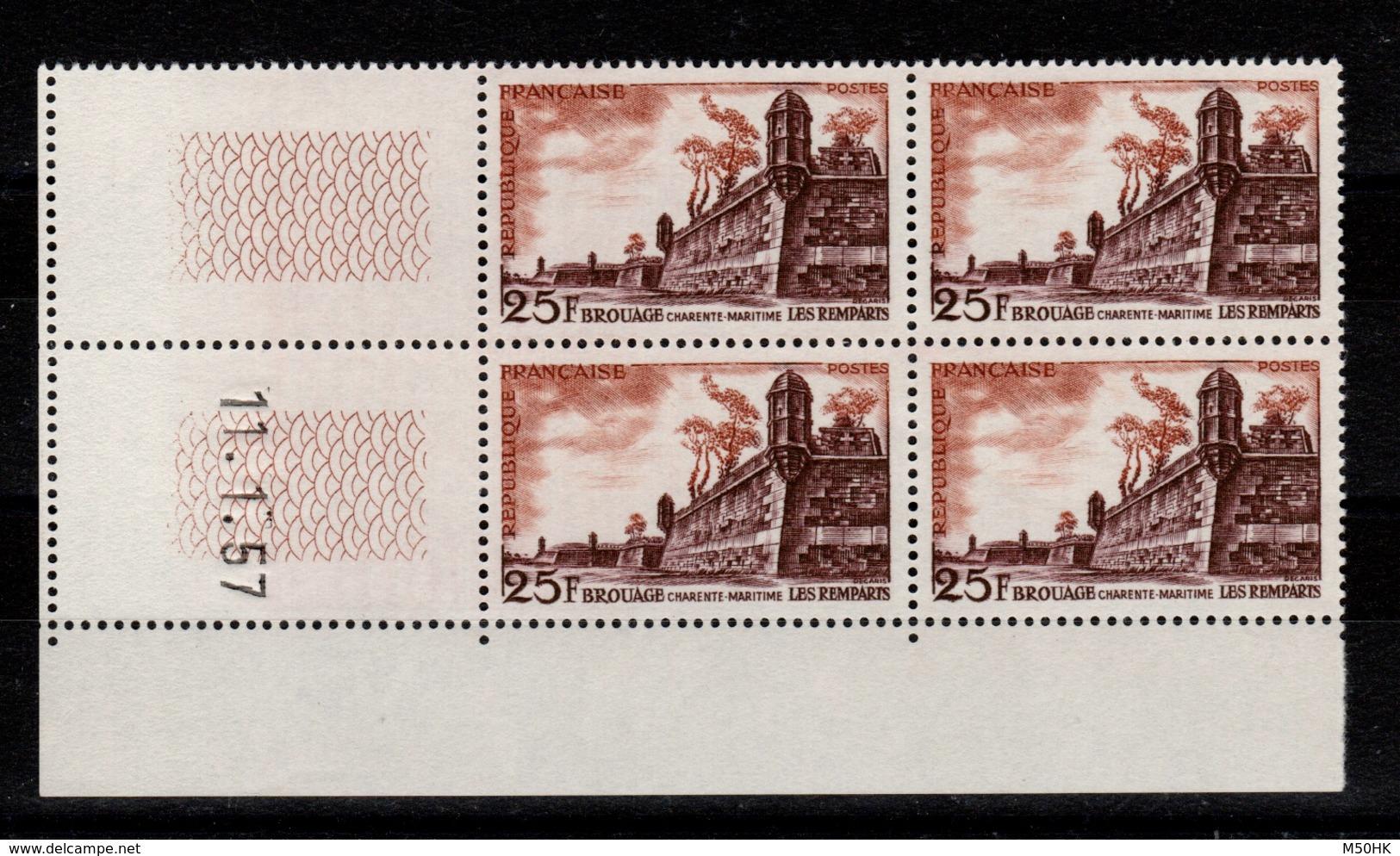 Coin Daté - YV 1042 N** Brouage Coin Daté Du 11.1.57 - 1950-1959