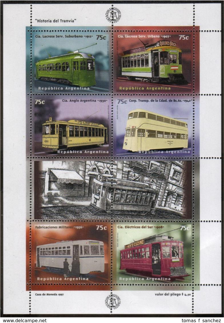 Argentina - 1997 - Histoire Du Tramway - Yvert 1971 / 1976 - Blocks & Kleinbögen