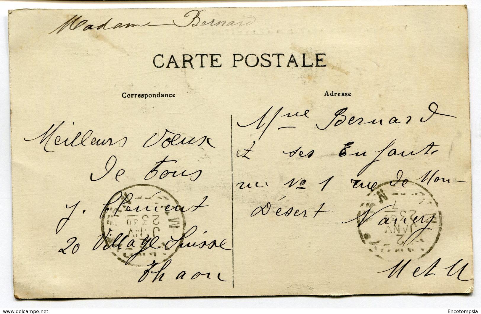 CPA - Carte Postale - France - Thaon Les Vosges - La Place Jules Ferry Et L'Ecole - 1917 (I9668) - Thaon Les Vosges