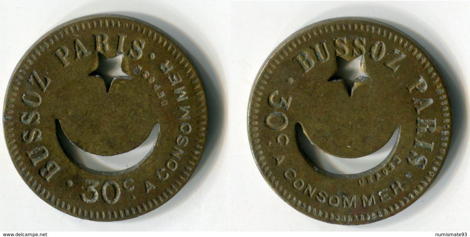 N93-0590 - Monnaie De Nécessité - Paris - Bussoz - 30 Centimes - Monétaires / De Nécessité