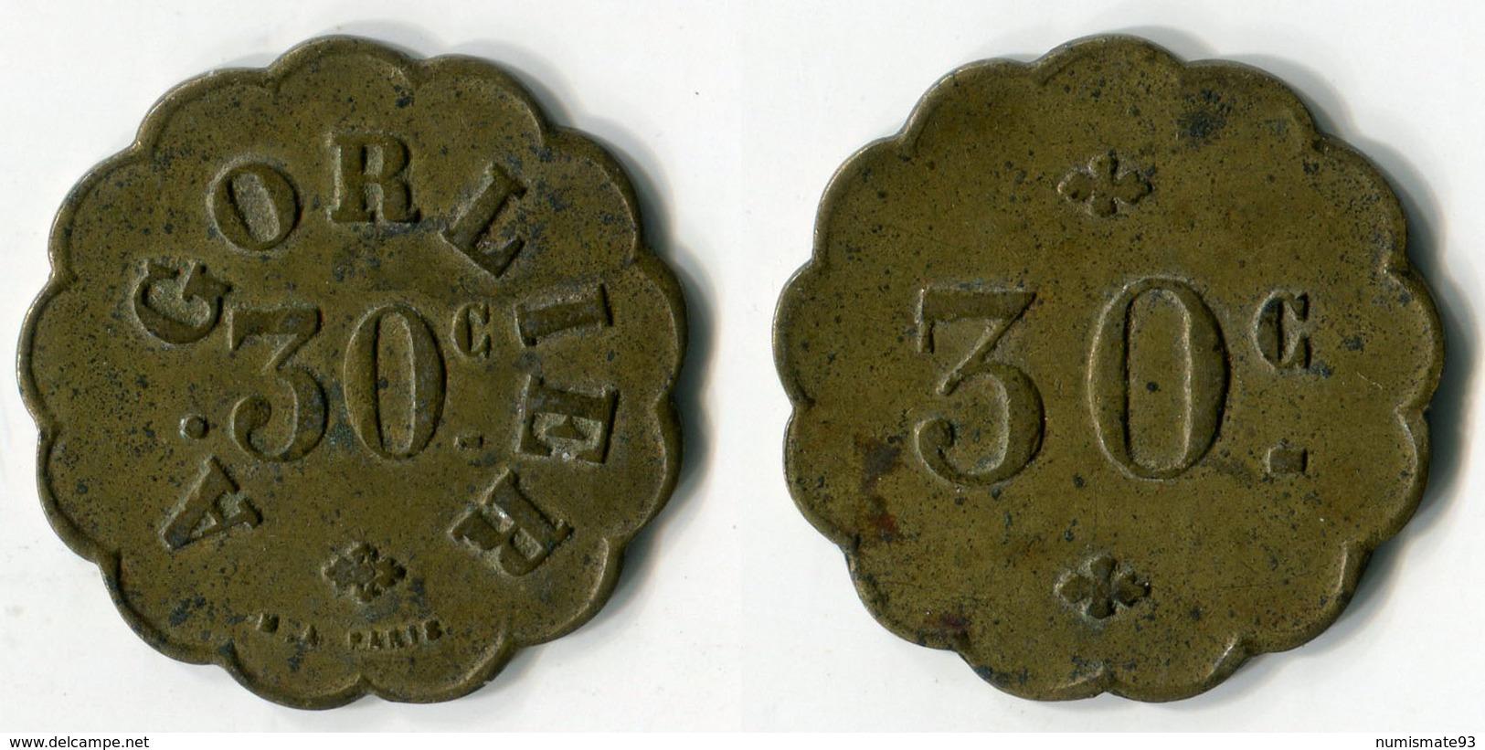 N93-0594 - Monnaie De Nécessité à Localiser - A.Gorlier - 30 Centimes - Monétaires / De Nécessité