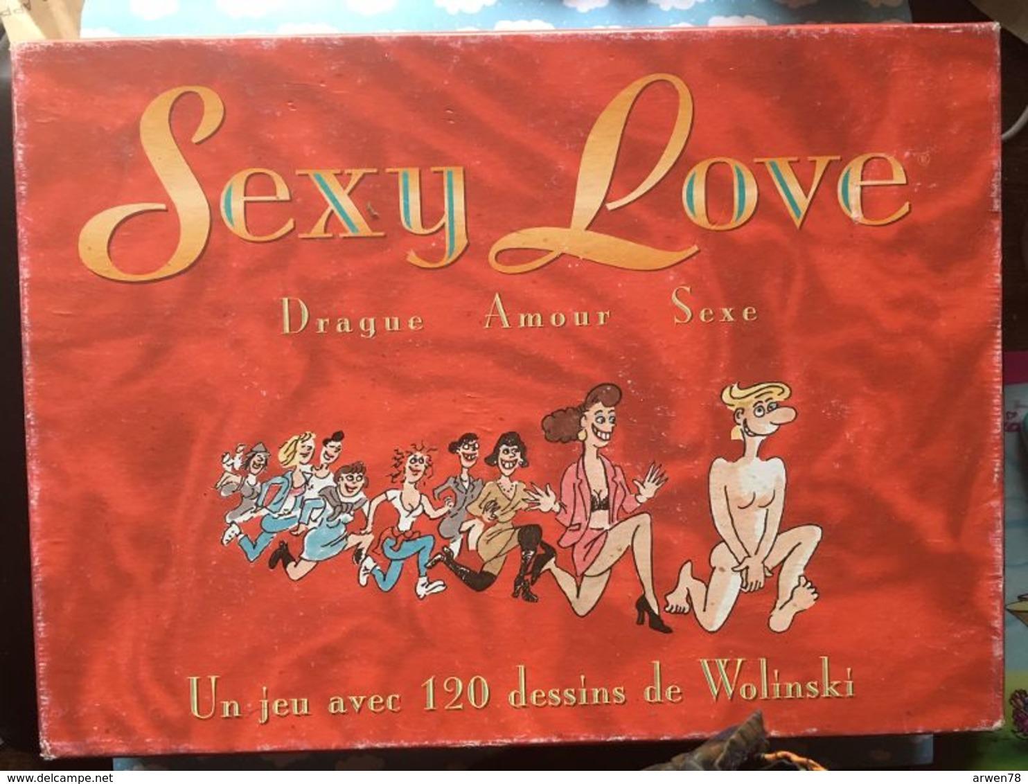 Boite De Jeu De Carte  Sexy Love 120 Dessins Par Wolinski Drague Amour Sexe - Jeux De Société