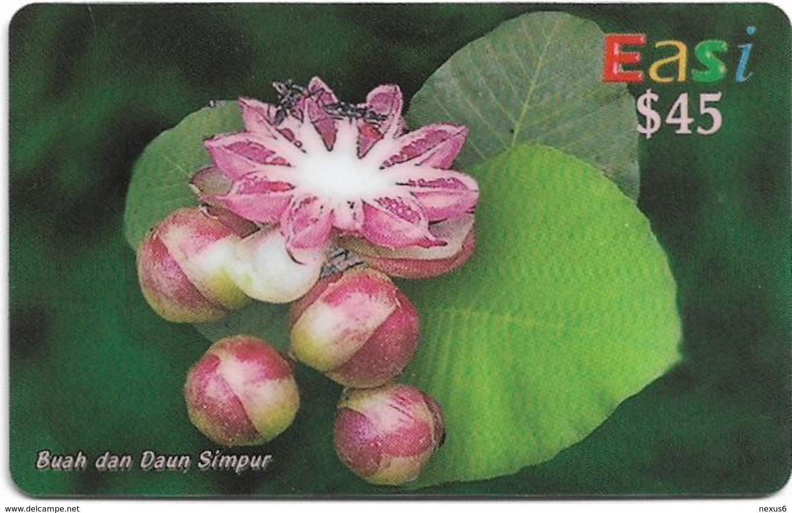Brunei - DstCom - Easi - Dillenia Suffruticosa Flower, Prepaid 45$, Used - Brunei