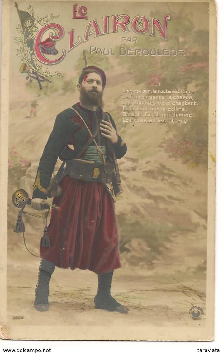 LE CLAIRON PAUL DEROULEDE Musique Chanson Patriotique Fantaisie Zouave - Patriottisch