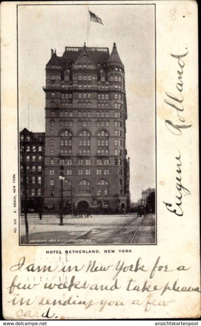 Cp New York City USA, Hotel Netherland, Mark Twain - Other