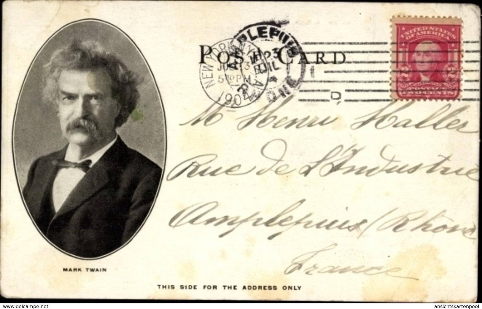 Cp New York City USA, Hotel Netherland, Mark Twain - Altri