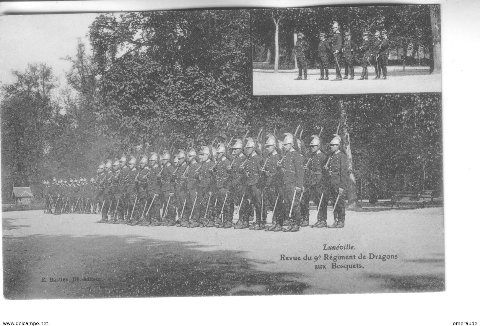 LUNEVILLE    Revue Du 9é Régiment De Dragons - Luneville