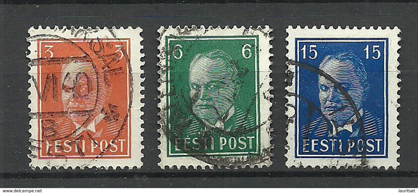 ESTLAND ESTONIA 1940 Michel 156 - 158 O - Estland