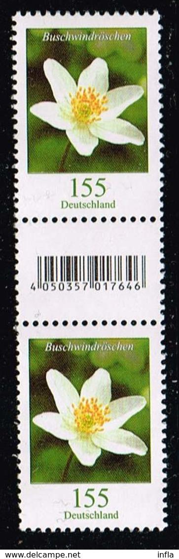 Bund 2019,Michel# R ** Blumen: Buschwindröschen Mit EAN-Code 500er Rolle Und Nr. 115 - Roller Precancels