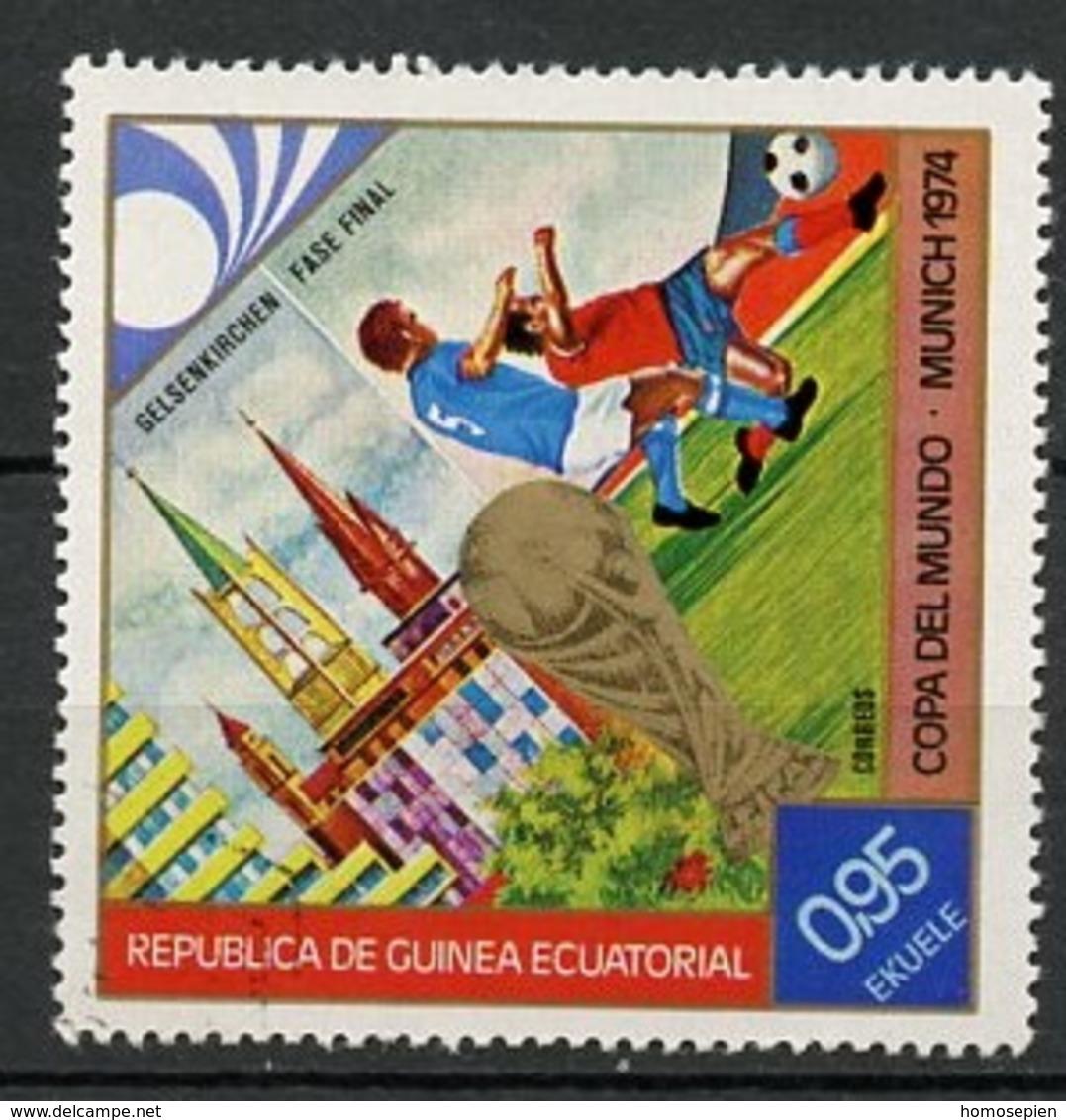 Guinée équatoriale - Guinea 1974 Y&T N°42-0,95e - Michel N°341 *** - 0,95e Coupe Du Monde à Munich - Guinée Equatoriale