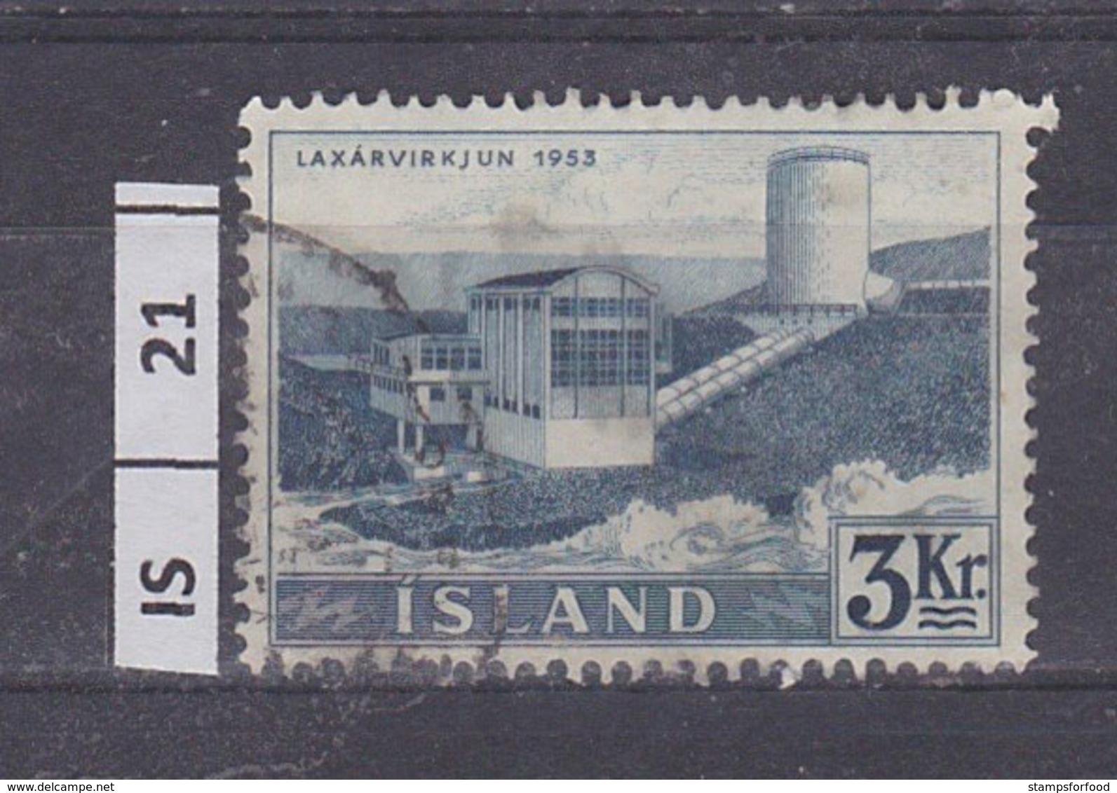 ISLANDA     1956Centrale Elettrica, 3 Kr Usato - 1944-... Repubblica