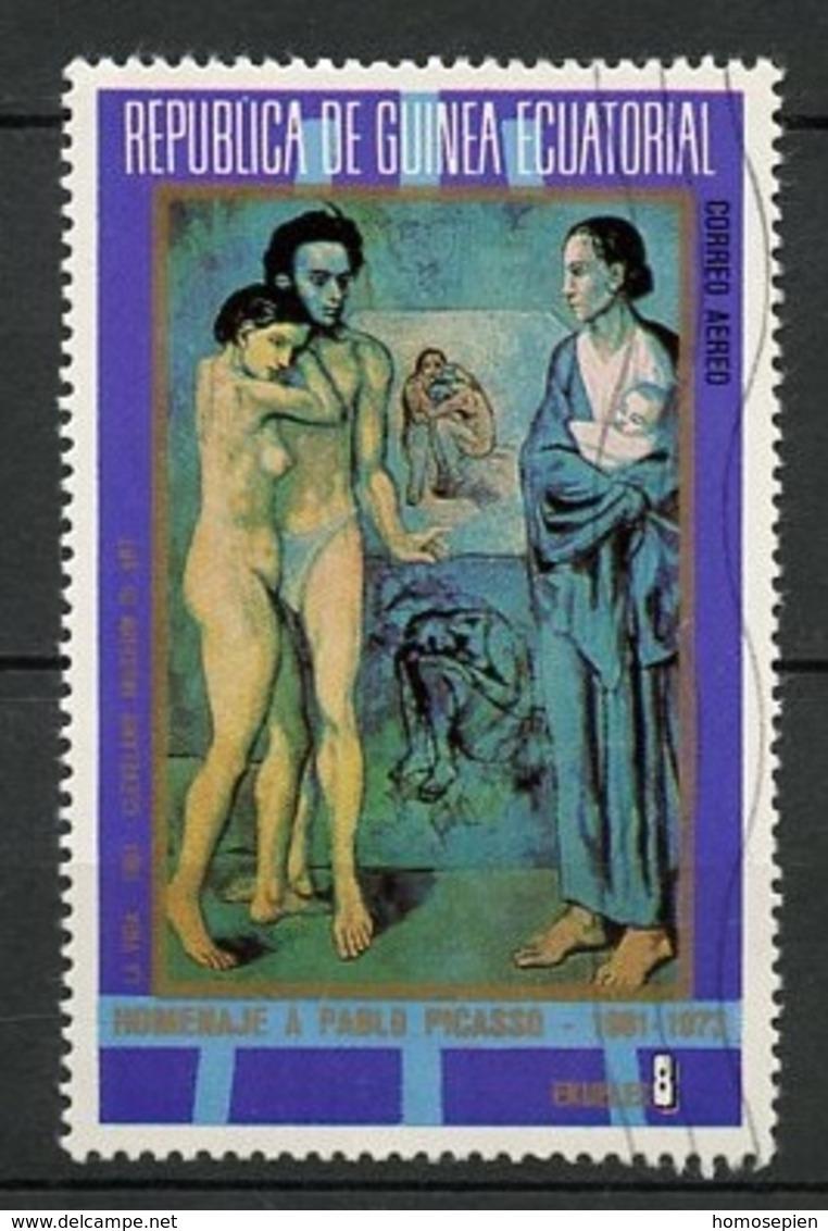 Guinée Equatoriale - Guinea Poste Aérienne 1973 Y&T N°PA25-8p - Michel N°(?) (o) - 8p Hommage à Pablo Picasso - Guinée Equatoriale